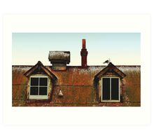 Rooftop on The Rock Art Print