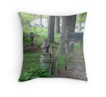 New England Mail Throw Pillow