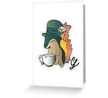 Tea Time Cyndaquil Greeting Card
