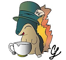 Tea Time Cyndaquil Photographic Print