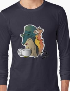 Tea Time Cyndaquil Long Sleeve T-Shirt