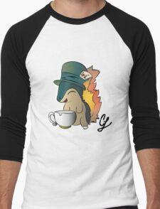 Tea Time Cyndaquil Men's Baseball ¾ T-Shirt