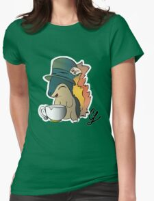 Tea Time Cyndaquil Womens Fitted T-Shirt