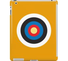 Bulls Eye, Right on Target, Roundel, Archery, on Orange iPad Case/Skin