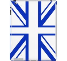 BRITISH, UNION JACK, UK, FLAG, PORTRAIT IN WHITE ON BLUE iPad Case/Skin