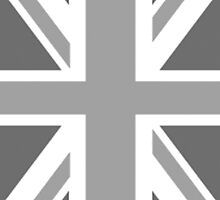 BRITISH, UNION JACK FLAG, PORTRAIT, IN GREY, UK ENGLAND by TOM HILL - Designer