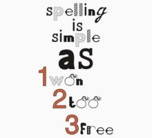 Spelling is easy as one-two-tree! by Freelancer
