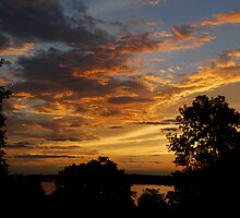Sunrise over the river 2 by Jim Caldwell