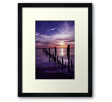 Once was a fence. Framed Print
