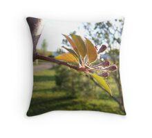 Crab Apple Tree Throw Pillow