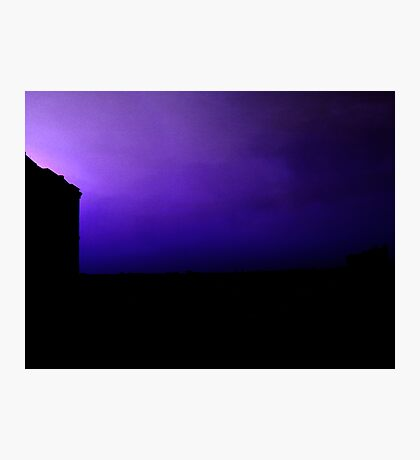 When the lightning strikes the other side of town.. Photographic Print