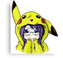 Pikachu Onesie Canvas Print