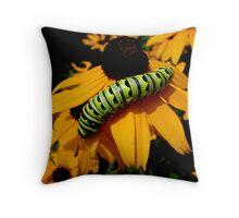 Another Caterpillar Shot Throw Pillow