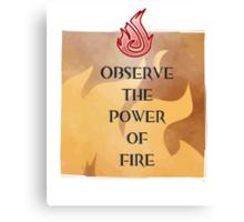 Fire Attunement Canvas Print