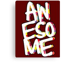 awesome lettering Canvas Print
