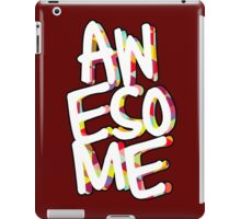 awesome lettering iPad Case/Skin