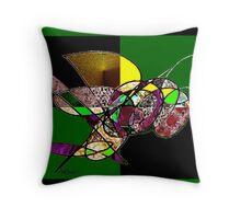 The Great Jeweled Bird Throw Pillow