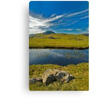 un-named tarn on Grey Knotts, looking to Brandreth and the Gables  Canvas Print