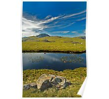 un-named tarn on Grey Knotts, looking to Brandreth and the Gables  Poster