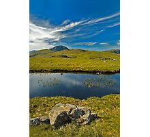 un-named tarn on Grey Knotts, looking to Brandreth and the Gables  Photographic Print