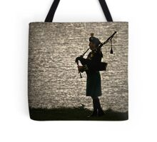 the Lone Piper Tote Bag