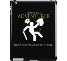 Adventurer with an arrow in the knew iPad Case/Skin