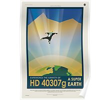 Experience the Gravity of a Super Earth Poster