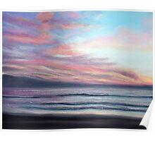 Sunset Beach Pastel Poster
