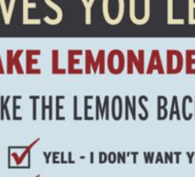 Cave Johnson, Lemons Sticker