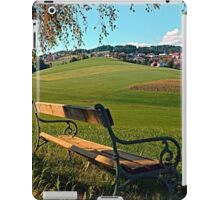 Bench under the tree | landscape photography iPad Case/Skin