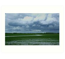Wet day On The Prairies Art Print