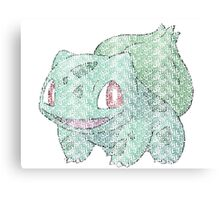 Bulbasaur Typography Canvas Print
