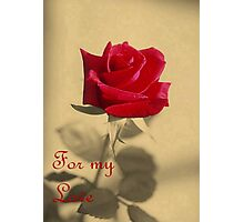 For My Love Vintage Valentine Greeting Card Photographic Print
