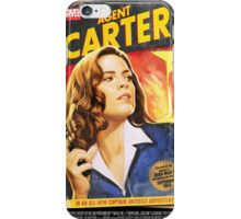 Agent Carter Short Poster iPhone Case/Skin