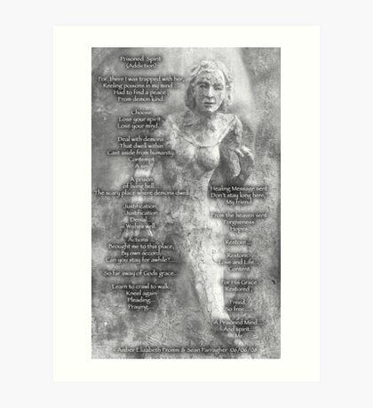Prisoned Spirit ~Addiction Art Print