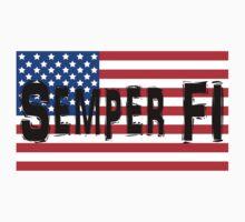 Semper Fi America Flag by loki1982