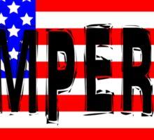 Semper Fi America Flag Sticker