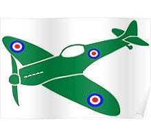 Spitfire Plane Poster