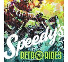 SPEEDY'S RETRO RIDES V.01 / GRAPHIC POSTER  by artxr