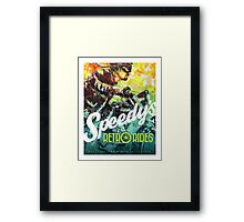 SPEEDY'S RETRO RIDES V.01 / GRAPHIC POSTER  Framed Print