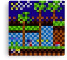 Pixel Sonic Canvas Print