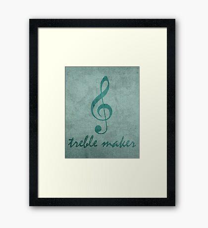 Treble Maker Framed Print