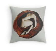 Nude in the Round 1993 Throw Pillow