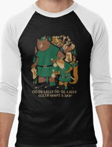 oo-de-lally Men's Baseball ¾ T-Shirt