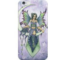 Fairy and Dragon Sitting on the Moon iPhone Case/Skin