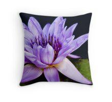 Purple water flower  Throw Pillow