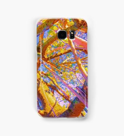 psychedelic tubes Samsung Galaxy Case/Skin