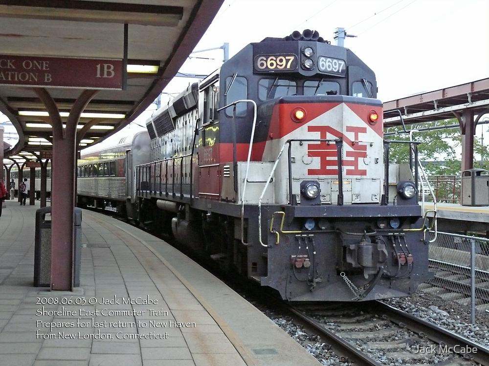 Shoreline East Commuter at New London Connecticut. by Jack McCabe