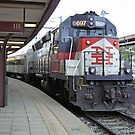Shoreline East Commuter at New London Connecticut. by Jack McCabe
