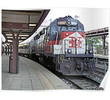 Shoreline East Commuter at New London Connecticut. Poster